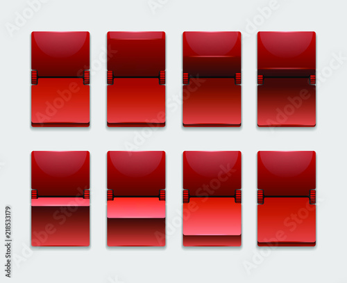 Red Mechanical scoreboard vector template