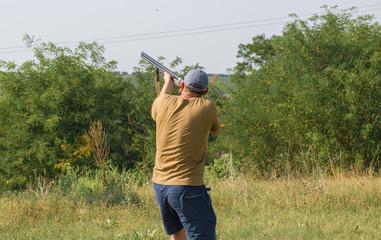 hunters on the shooting range
