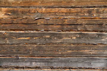 Old logs wall texture.