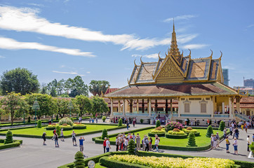Phochani Pavilion (dance hall or dance theater) of the Cambodian royal palace in Phnom Penh