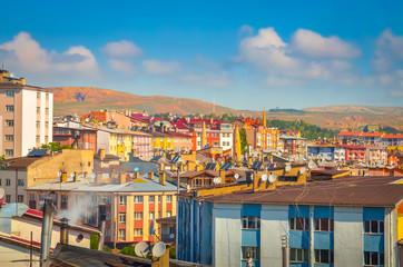 Foto op Aluminium Turkije Beautiful aerial view on city Sivas, Turkey