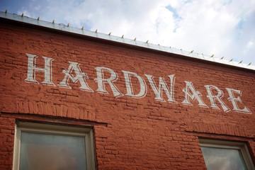 vintage hardware store sign