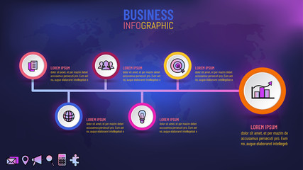 Business template infographic for presentation, Vector illustration