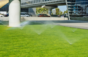 Automatic watering lawns