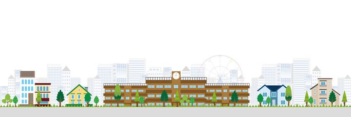 学校 建物 ビル 背景