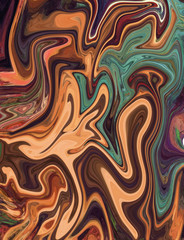 Watercolor marble art. Liquid paint swirls. Colorful texture background. Multicolored wallpaper graphic design. Pattern for creating artworks and prints.
