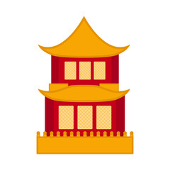 Traditional asian building icon
