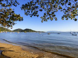 A view of the sea in Santo Antonio de Lisboa, tourist destination in Florianopolis - Brazil