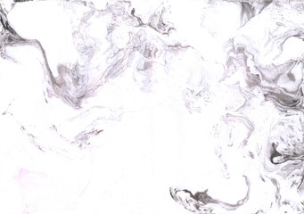 White and grey marble background.