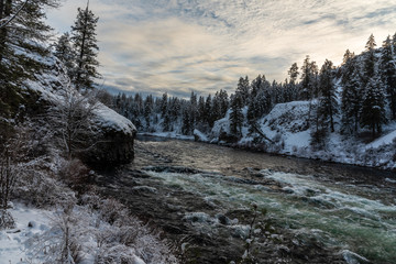 Spokane River in Riverside State Park. Washington, State