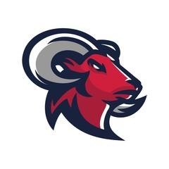 goat/sheep/lamb/ram esport gaming mascot logo template