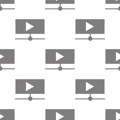 online video play button icon. Element of minimalistic icons for mobile concept and web apps. Pattern repeat seamless online video play button icon can be used for web