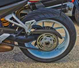 Rear Motorcycle Tire - Wheel - Exotic Italian Racing Bike - Ducati