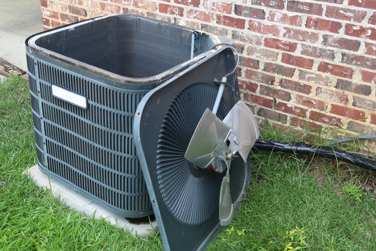 Air Conditioner Maintenance on condenser coil