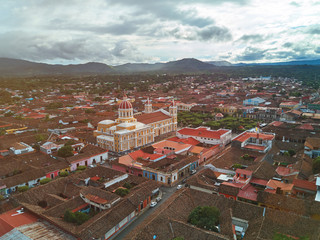 Colorful cityscape of Granada town