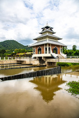 Tha Chomphu dam in Lamphun  province