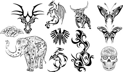 タトゥー用グラフィック素材