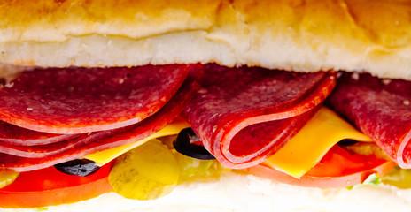 Sandwich macro(Cheese,olives,tamato,lettuce)