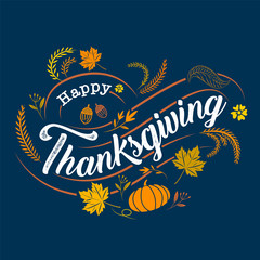 happy thanksgiving, Typographic, calligraphy, Type , vector