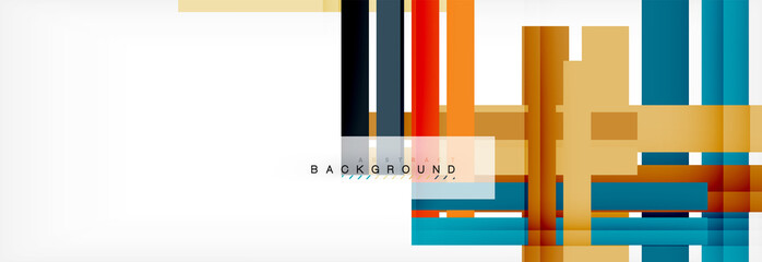 Poster Echelle de hauteur Color stripes and lines, geometric abstract background