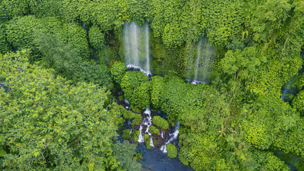 Beautiful scenery of Benang Kelambu waterfall