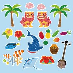 沖縄 観光 名物 素材イラスト