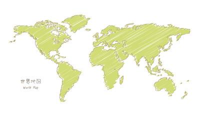 手書きのせ界地図