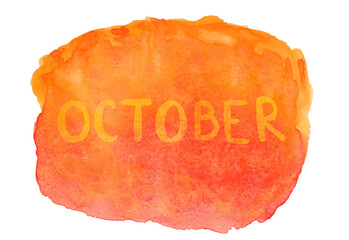 October bright background