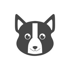 Dog logo, Dog icon, Face dog sign