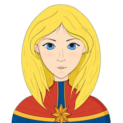 Amazing Captain Marvel Superhero Girl Blonde