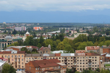 view to Kutaisi Town. General view of the city from the viewpoint