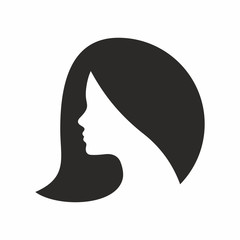 Woman, hair vector icon