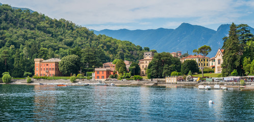 Scenic sight in Lenno, beautiful village overlooking Lake Como, Lombardy, Italy.