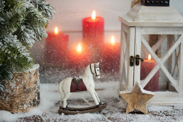 Christmas Decoration Ornaments/Candles