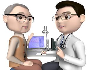 患者と医師40代