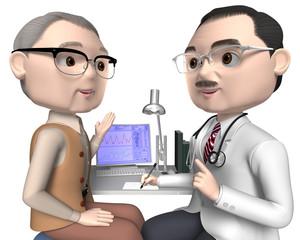 患者と医師50代