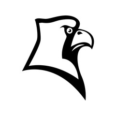 Bird cardinal head sign. Design element for sport team logo, emblem, badge, mascot.