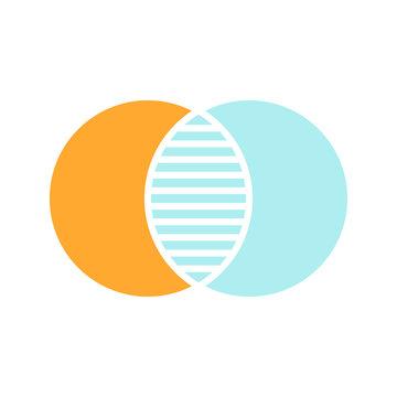 Discrete maths glyph color icon