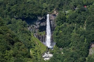 夏の明智平からの華厳の滝と中禅寺湖
