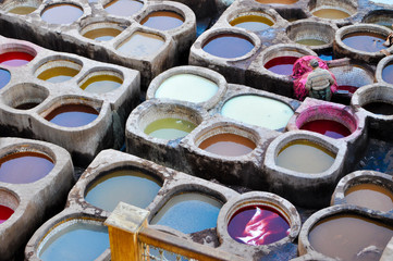 Full Frame Shot Of Multi Colored Dye At Laundry