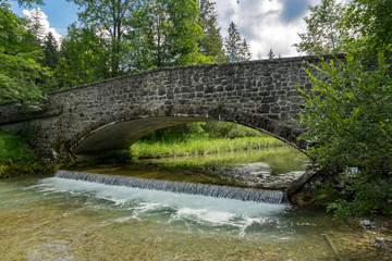 Stone bridge during a hike