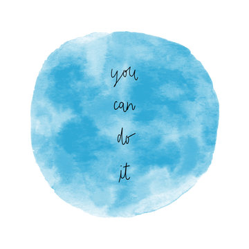 You can do it with blue round watercolor
