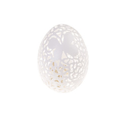 Easter hen's egg with carving.