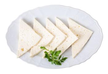 Georgian homemade soft cheese.