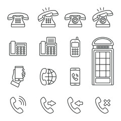 Phone and communication related icons