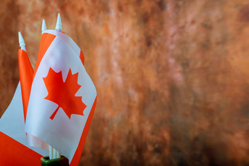 Poster Canada A close up of an Canadian flag abstract background