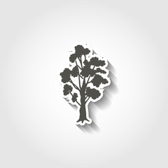 tree icon with shadow for web and mobile