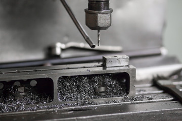 Metal cutting machine tools in the factory