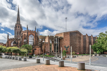Coventry Cathedral in Warwickshire Engalnd