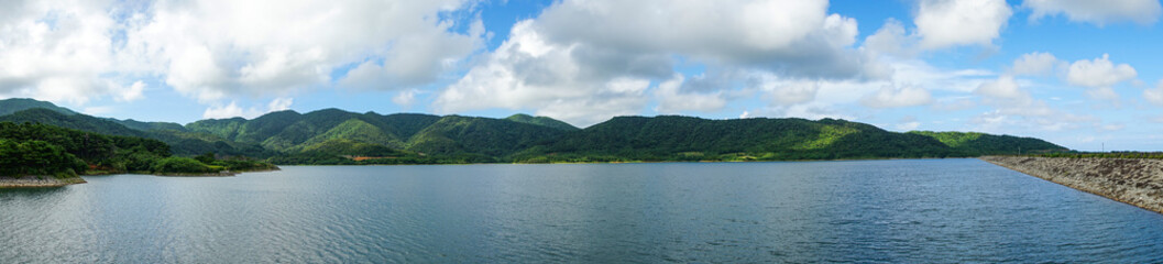 Foto op Canvas Dam Sokohara Dam of Ishigaki Island in Okinawa, Japan. (石垣島 底原ダム)